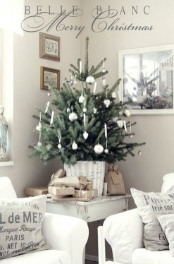 Minimalist Small Tree In A Bucket Ideas For Christmas16