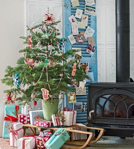 Minimalist Small Tree In A Bucket Ideas For Christmas41