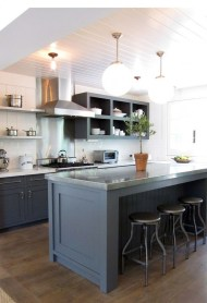 Modern Dark Grey Kitchen Design Ideas15