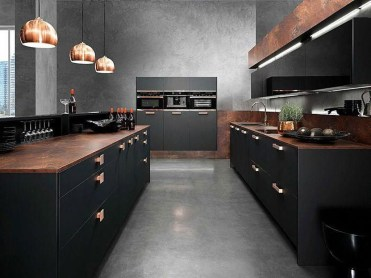 Modern Dark Grey Kitchen Design Ideas17