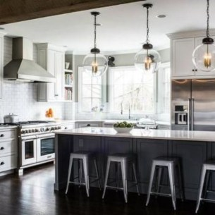 Modern Dark Grey Kitchen Design Ideas25