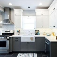 Modern Dark Grey Kitchen Design Ideas26