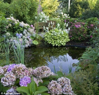 Popular Pond Garden Ideas For Beautiful Backyard21