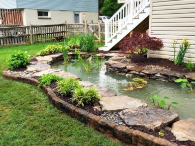 Popular Pond Garden Ideas For Beautiful Backyard22