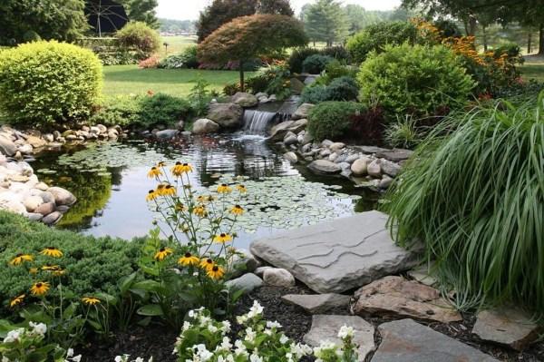 Popular Pond Garden Ideas For Beautiful Backyard24