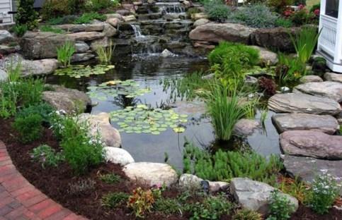 Popular Pond Garden Ideas For Beautiful Backyard33