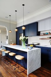 Relaxing Blue Kitchen Design Ideas For Fresh Kitchen Inspiration18