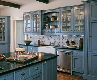 Relaxing Blue Kitchen Design Ideas For Fresh Kitchen Inspiration34