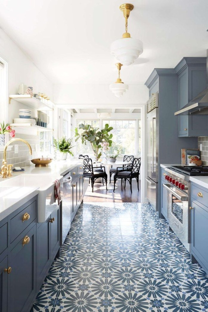 Relaxing Blue Kitchen Design Ideas For Fresh Kitchen Inspiration41