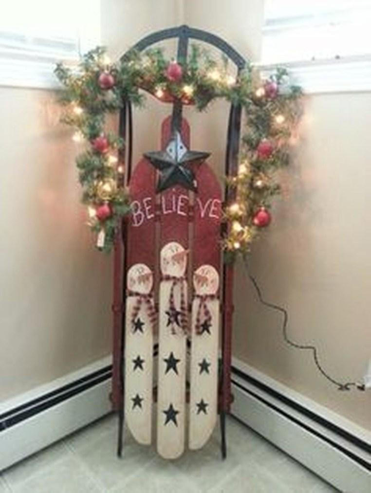 Unique Sleigh Decor Ideas For Christmas37