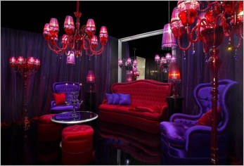Amazing Red Apartment Living Room For Valentine03