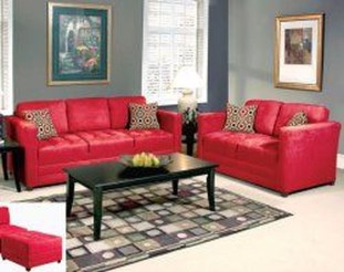 Amazing Red Apartment Living Room For Valentine12