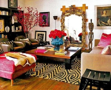 Amazing Red Apartment Living Room For Valentine22