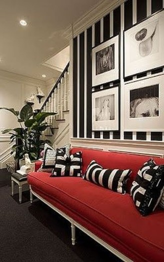 Amazing Red Apartment Living Room For Valentine23