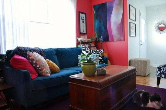 Amazing Red Apartment Living Room For Valentine24