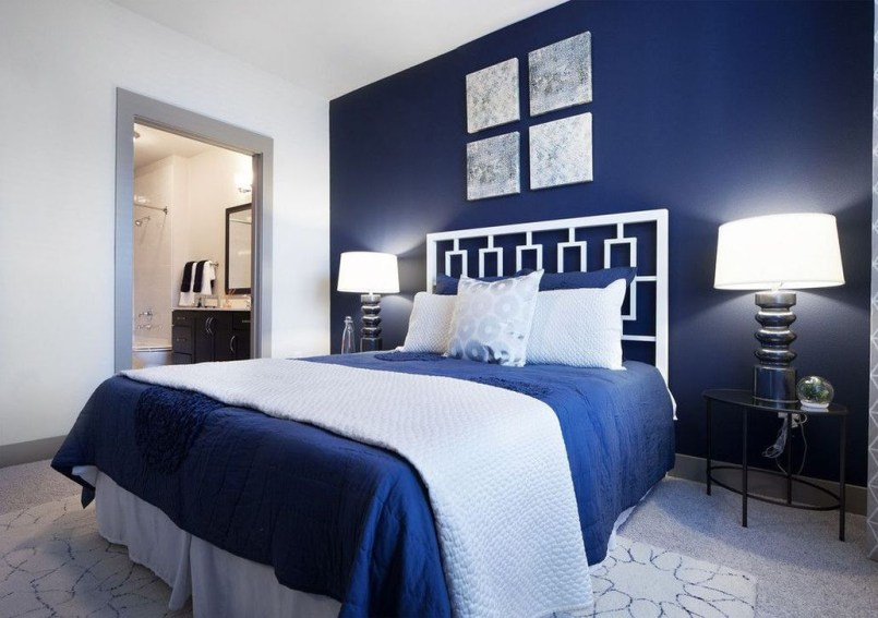 Elegant Blue Themed Bedroom Ideas06