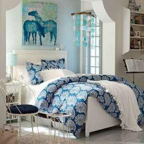 Elegant Blue Themed Bedroom Ideas12