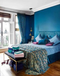 Elegant Blue Themed Bedroom Ideas30