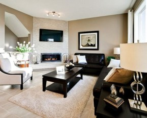 Lovely Fireplace Living Rooms Decorations Ideas35