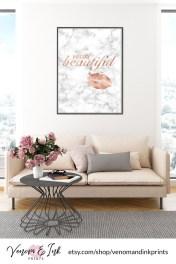 Lovely Roses Decor For Living Room01