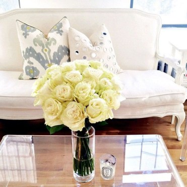 Lovely Roses Decor For Living Room17