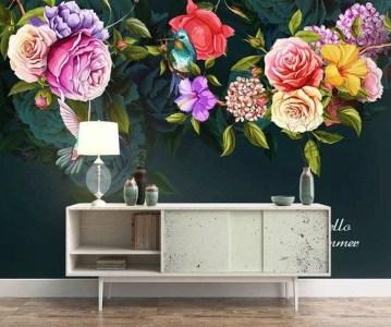 Lovely Roses Decor For Living Room23
