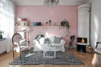 Lovely Roses Decor For Living Room27