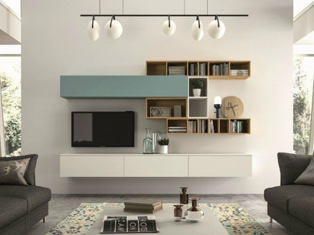 Amazing Wall Storage Items For Your Contemporary Living Room23
