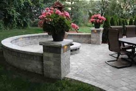 Simple Backyard Step Lights Fire Pits10