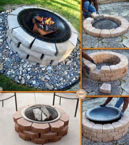 Simple Backyard Step Lights Fire Pits12