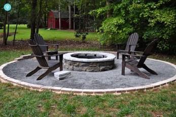 Simple Backyard Step Lights Fire Pits14