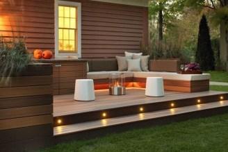 Simple Backyard Step Lights Fire Pits20