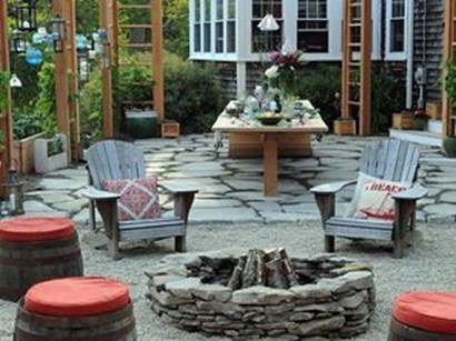 Simple Backyard Step Lights Fire Pits22