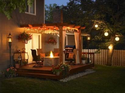 Simple Backyard Step Lights Fire Pits23
