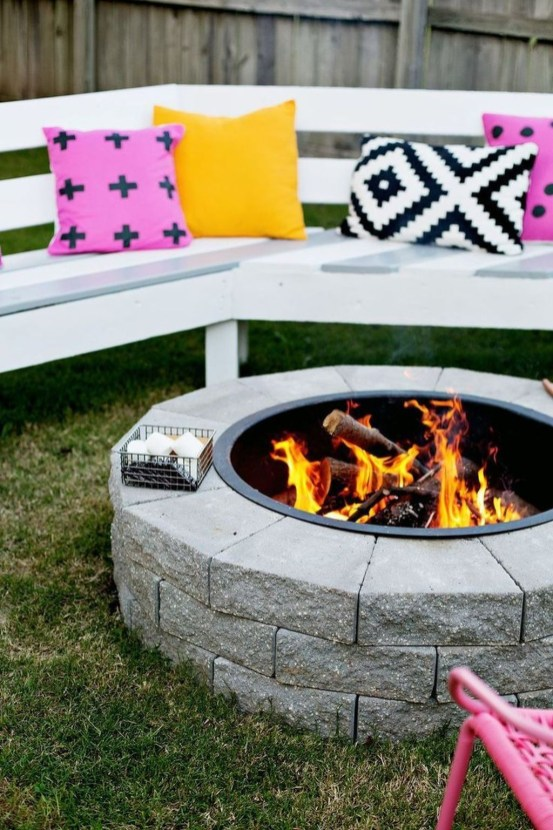Simple Backyard Step Lights Fire Pits32