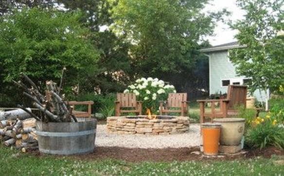 Simple Backyard Step Lights Fire Pits43