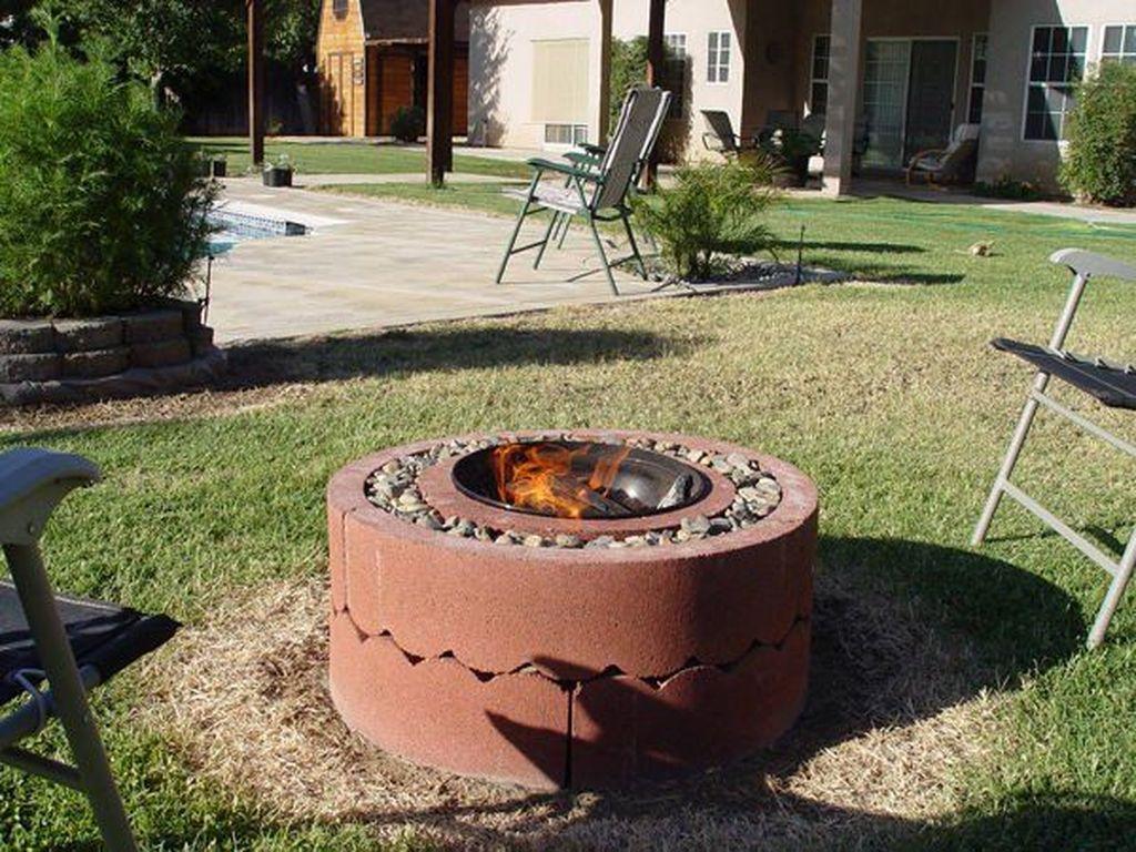 Simple Backyard Step Lights Fire Pits47