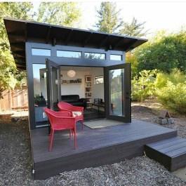 Amazing Backyard Studio Shed Design27