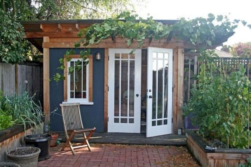 Amazing Backyard Studio Shed Design32