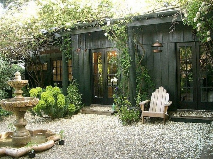 Amazing Backyard Studio Shed Design33