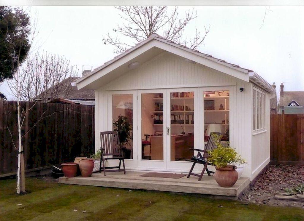 Amazing Backyard Studio Shed Design36