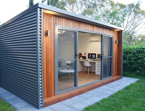 Amazing Backyard Studio Shed Design38