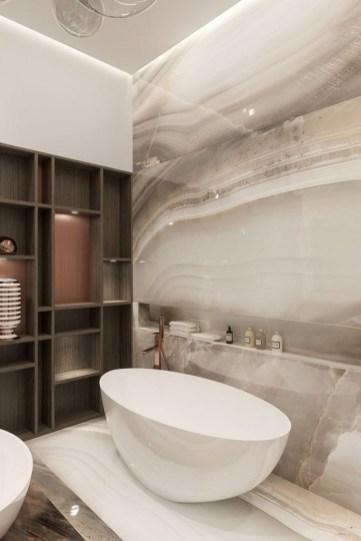 Elegant Stone Bathroom Design21