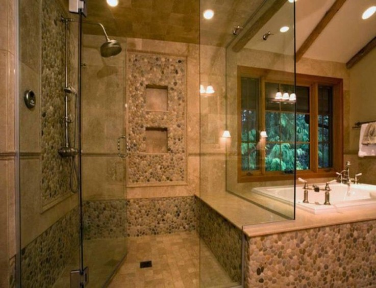 Elegant Stone Bathroom Design23