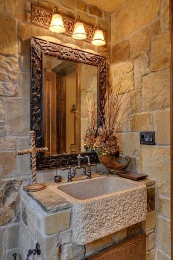 Elegant Stone Bathroom Design40