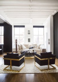 Lovely Black And White Living Room Ideas11