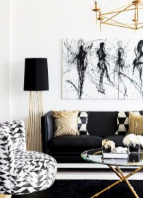 Lovely Black And White Living Room Ideas13