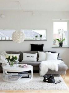 Lovely Black And White Living Room Ideas21