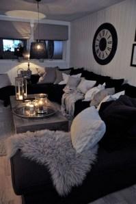 Lovely Black And White Living Room Ideas23