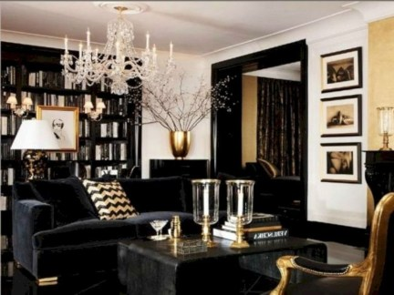 Lovely Black And White Living Room Ideas26